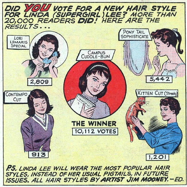 1961 Perry Rhodan: Pick A New Hairstyle For Linda (Supergirl) Lee