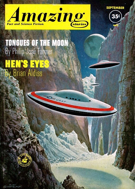 Amazing Stories Volume 21 Number 06: SF Magazine Cover Gallery For Sept. 1961